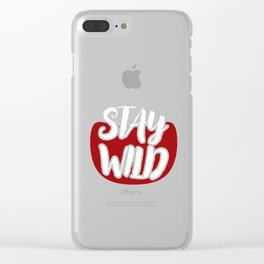 Wild West Collectible Stay Wild Wild West Collection Clear iPhone Case