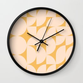 Circle Shapes in Straw and Yellow Wall Clock
