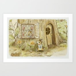 Mouse's Morning Read Art Print