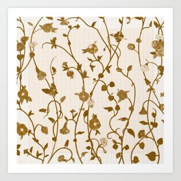 Golden Climbers Art Print