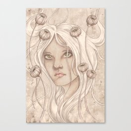 Seed Pod Girl Canvas Print