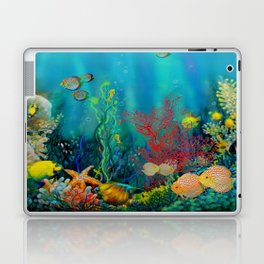 Undersea Art With Coral Laptop & iPad Skin