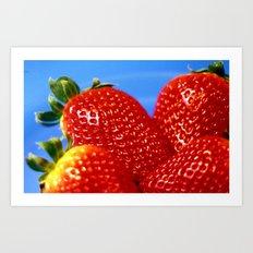 Strawberries! Art Print