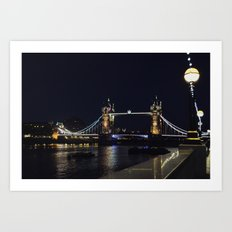 Tower Bridge at Night Art Print