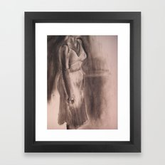 One White Dress Framed Art Print