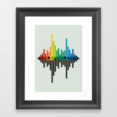 colorful city Framed Art Print