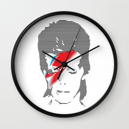 David Bowie Lines Wall Clock