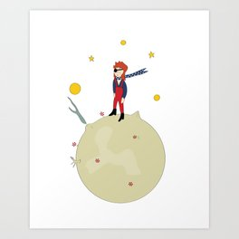 David Bowie as The Little Prince Art Print