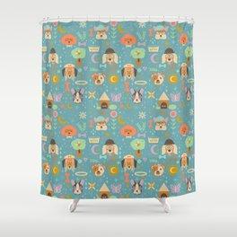 Dog World Shower Curtain