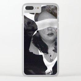 Stuck in the FigureGlass Clear iPhone Case