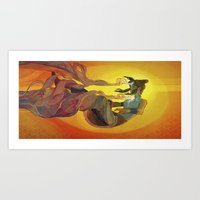 the legend of korra Art Prints featuring Korra by Vivian Ng