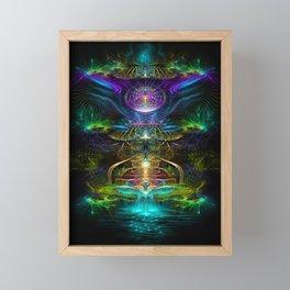 Neons - Fractal - Visionary - Manafold Art Framed Mini Art Print
