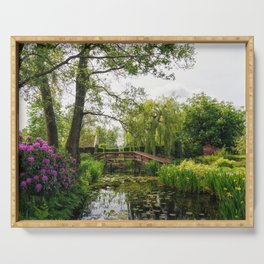 Canal in Giethoorn Village Serving Tray
