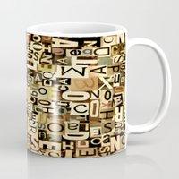 alphabet Mugs featuring Alphabet by Kerri Swayze