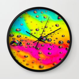 Rainbow Landscape Wall Clock