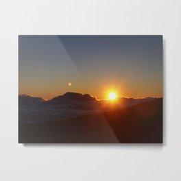 Sunrise over Haleakala  Metal Print