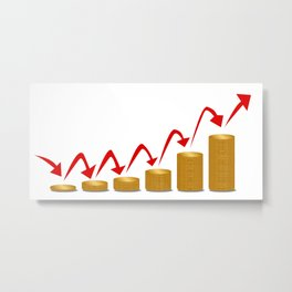 Rising Money Steps Metal Print
