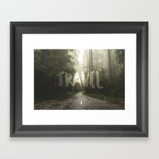 Forest Fog Tree Travel - Redwood National Park Trees in California Wall Tapestry Framed Art Print