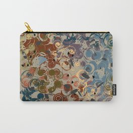 Earth Tone Abstract Carry-All Pouch