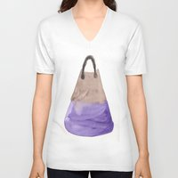 tote bag V-neck T-shirts featuring Tote 2 by ©valourine