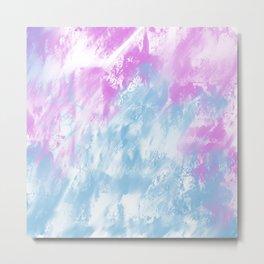 Abstract Watercolor Metal Print