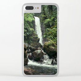 Lush Jungle Waterfall Looks Like Jurassic Park Clear iPhone Case