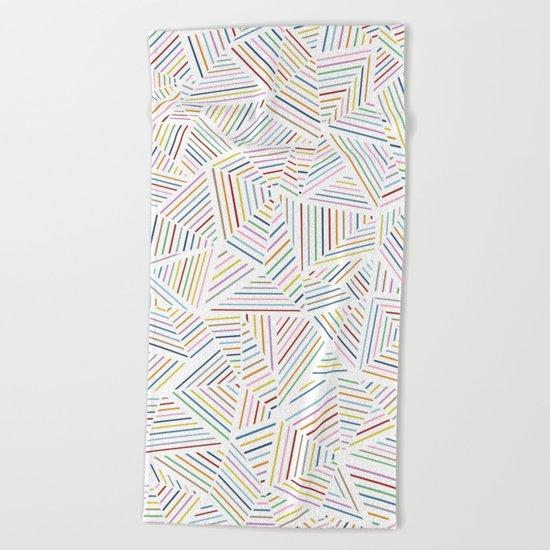 Abstraction Linear Rainbow Beach Towel