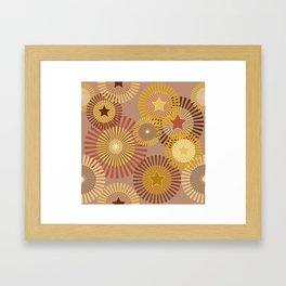 Sunflower Starflower Framed Art Print