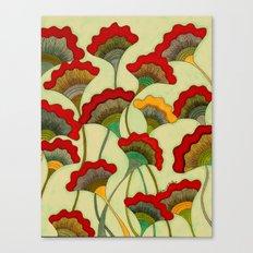 Poppies (warm) Canvas Print