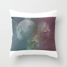 Sea,Moon Throw Pillow