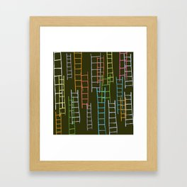 Ladders Framed Art Print