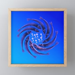 Fishes Dancing Framed Mini Art Print