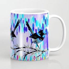 Purple fairy Wren Party Coffee Mug