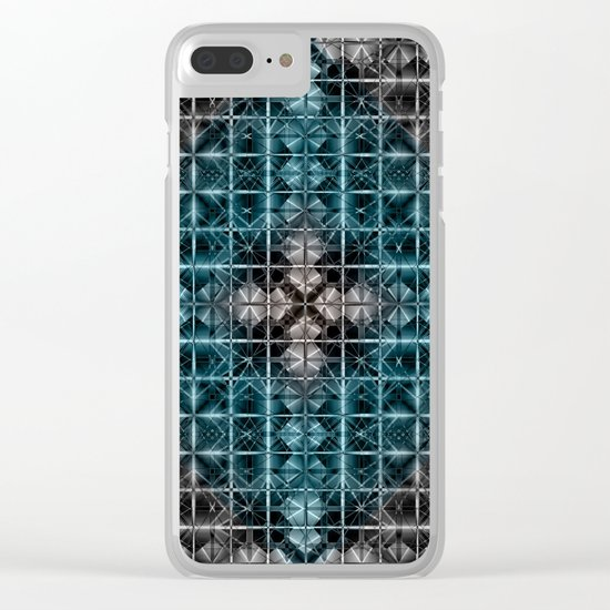 Abstract geometric BG Clear iPhone Case