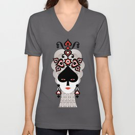 The Queen of spades Unisex V-Neck
