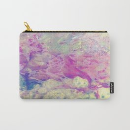 Pastel Madness - Mixed media marble painting Carry-All Pouch