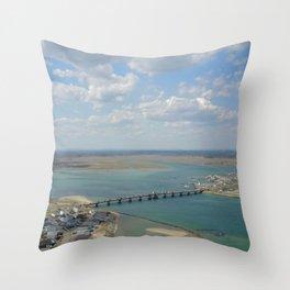 Bridge To Hampton Throw Pillow