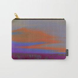 """Twilight Meadow"" (Magenta/Orange) Digital Painting // Fine Art Print Carry-All Pouch"