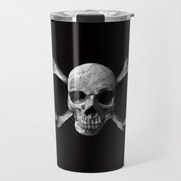 Jolly Roger - Black and White Travel Mug