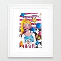 patriotic Framed Art Prints featuring Patriotic Girl by Judy Skowron