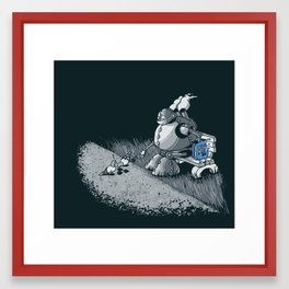 Here Ya Go Little Fella! Framed Art Print