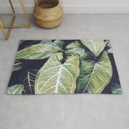 Jungle leaf - vintage Rug