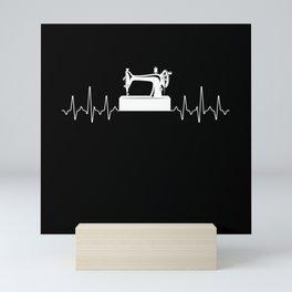 Sewing Heartbeat Mini Art Print