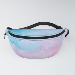 Cotton Candy Gorgeous Watercolor Fanny Pack