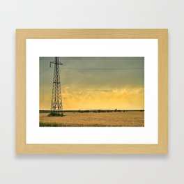 field post Framed Art Print