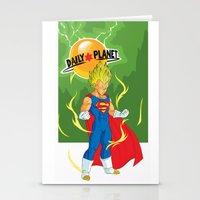 vegeta Stationery Cards featuring SUPER VEGETA / DAILY PLANET by Javier Guijarro