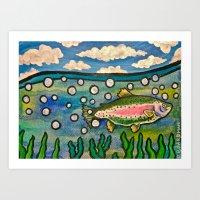 Trout. Art Print