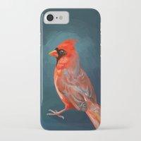 cardinal iPhone & iPod Cases featuring Cardinal by Freeminds