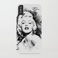 monroe iPhone & iPod Cases featuring Monroe by Ron Jones The Artist