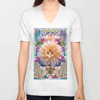holographic V-neck T-shirts featuring Cats of the internet dimension by STORMYMADE